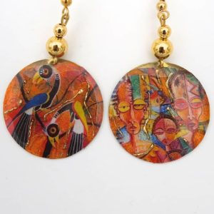 boucles d'oreilles artisanales fantaisies Afrique