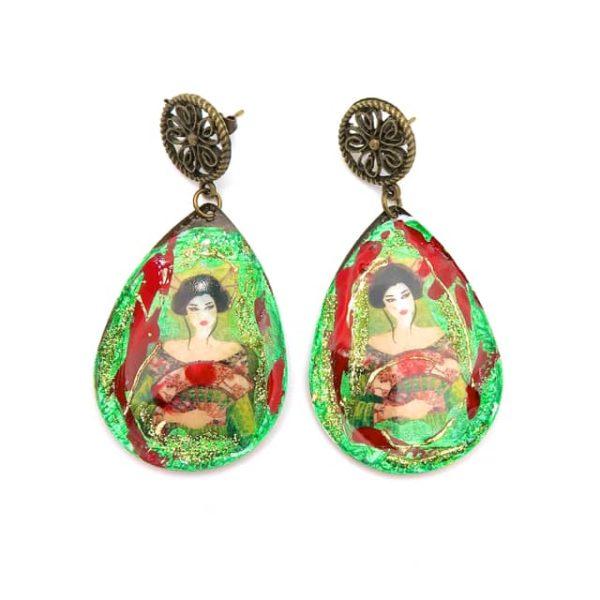 Boucles d'oreilles artisanales japonaises